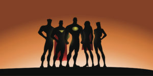 Superhero Team Silhouette